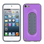Insten® Snap Tail Stand Protector Cover For iPod Touch 5th Gen; Purple