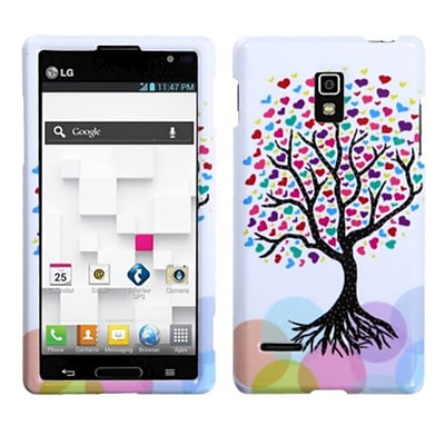 Insten® Protector Case For LG P769 Optimus L9; Love Tree