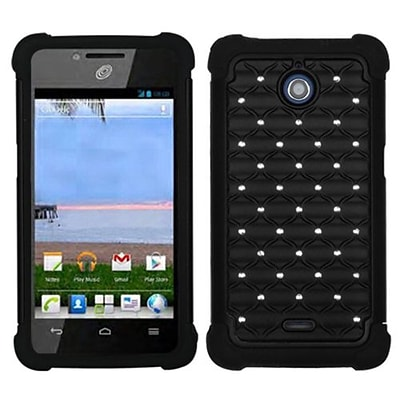 Insten® Phone Protector Case For Huawei H881C/Y301; Black/Black
