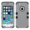 Insten® TUFF Hybrid Rubberized Phone Protector Cover F/iPhone 5/5S; Gray/Black