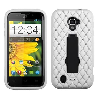 Insten® Symbiosis Stand Protector Case For ZTE N9511 Source; Black/White