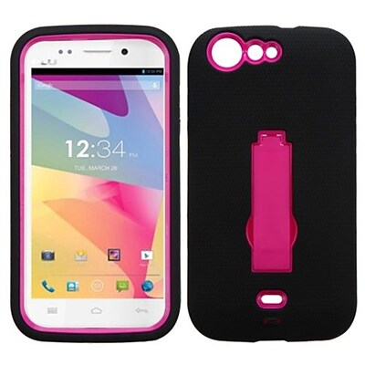 Insten® Symbiosis Stand Protector Cover For BLU L120 Life One; Hot-Pink/Black