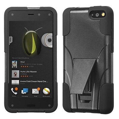 Insten® Advanced Armor Stand Protector Case For Amazon Fire; Black