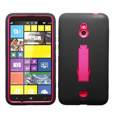 Insten® Symbiosis Stand Protector Case For Nokia Lumia 1320; Hot-Pink/Black