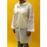 Keystone Single Collar Small White Disposable Lab Coat, 30/Box (LC0-WO-NW-SM)