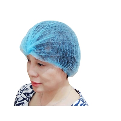 Keystone 111NWI-10-21-BBG Latex Free Polypropylene Blue Bouffant Cap, 21, 1000/Box