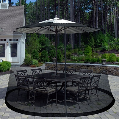 Pure Garden 82 x 41 Plastic Outdoor Umbrella Screen