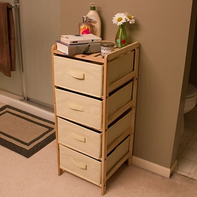 Lavish Home Wood Five Drawer Unit, 4 Drawers