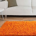 Lavish Home Orange Carpet Shag Rug
