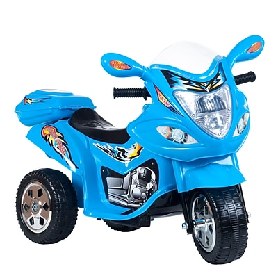 Lil Rider 31.75 x 14.25 Motorized Ride on Three Wheel Motorcycle Trike, Blue