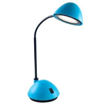 Lavish Home 21 x 5 Plastic LED Desk Lamp, Blue
