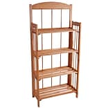 Lavish Home 4 Shelf Wood Bookcase