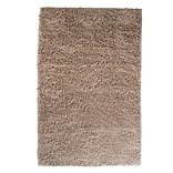 Lavish Home High Pile Carpet Shag Rug Plush Polyester, 36 x 21 Ivory