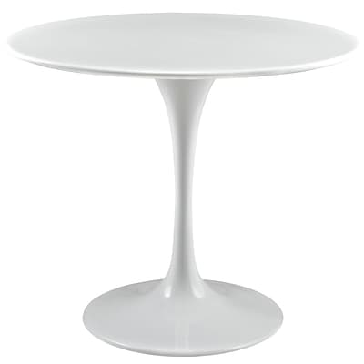Modway Lippa EEI-1116-WHI 35.5 Round Dining Table, White