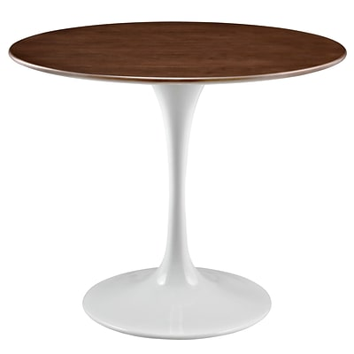 Modway Lippa EEI-1136-WAL 36 Round Dining Table, Walnut