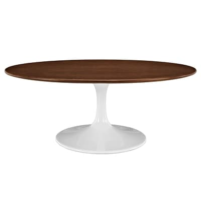 Modway Lippa EEI-1141-WAL 15.5 Oval Coffee Table, Scratch and Chip Resistant