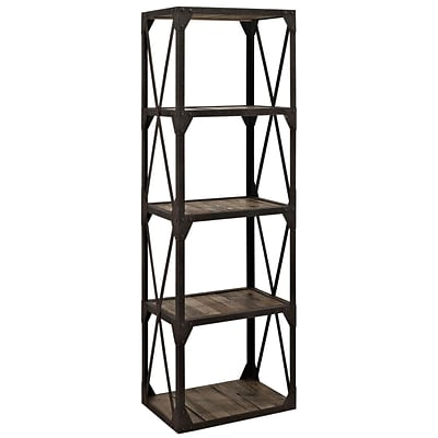 Modway EEI-1202-BRN Wooden Brown Stave Stand Bookcase