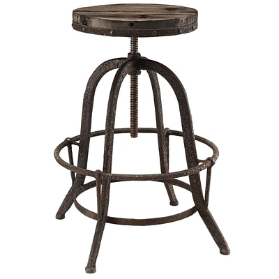 Modway EEI-1208-BRN 22 - 33 Collect Bar Stool, Brown