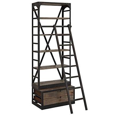 Modway EEI-1211-BRN-SET Wood/Metal Velocity Stand, Brown