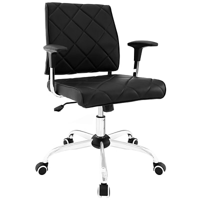 Modway EEI-1247-BLK Lattice Vinyl Office Chair, Black