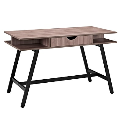 Modway Eei 1324 Bir Contemporary Wood Melamine Metal Writing Desk