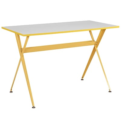 Modway EEI-1325-YLW Contemporary Melamine/Steel Writing Desk, Yellow