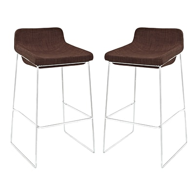 Modway EEI-1364-BRN Set of 2 34.5 Garner Bar Stool, Brown