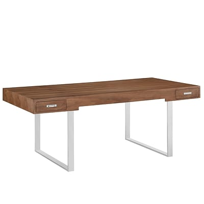 Modway EEI-293-WAL Contemporary Wood/Steel Writing Desk