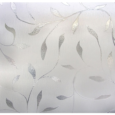 Artscape Etched Leaf Clear Window Film, 83H x 12W