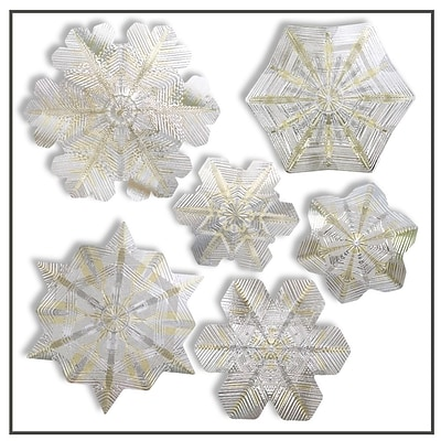 Artscape 12H x 12W Snowflake Holiday Window Accents, Citrine