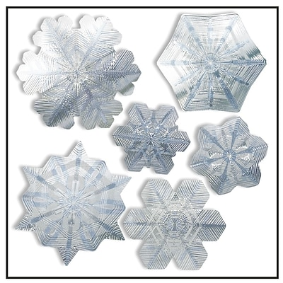 Artscape 12H x 12W Snowflake Holiday Window Accents, Sapphire