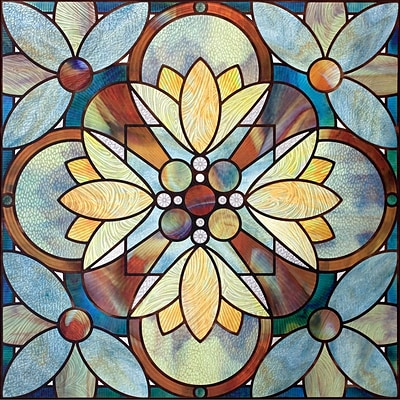 Artscape 12H x 12W Quatrefoil Multi-Color Window Film