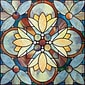 "Artscape 12""H x 12""W Quatrefoil Multi-Color Window Film"
