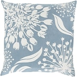 Surya 18 x 18 Ivory, sky blue Pillow