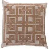 Surya LD001-1818D Gramercy 100% Linen with Cotton Detail 18 x 18 Down Fill