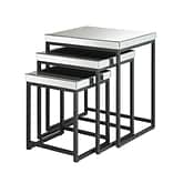 OSP Designs Mirrored & Steel Nesting Tables