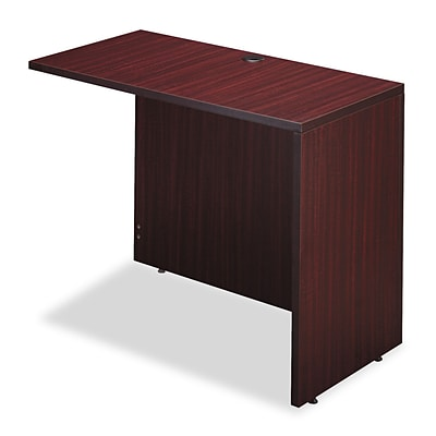 Alera® Valencia Series Reversible Return/Bridge Shell, 42w x 23-5/8d. Mahogany