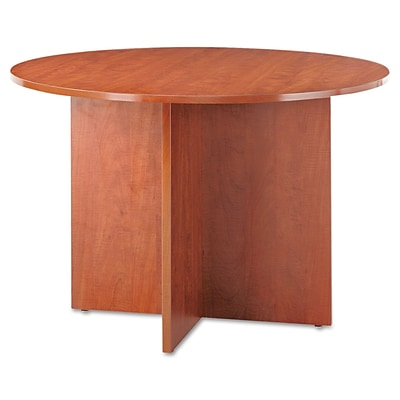 Alera® Valencia 42 Dia. Round Conference Table With Legs; Medium Cherry