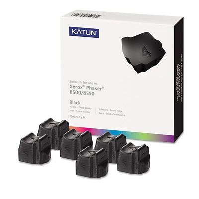 Katun Compatible Solid Ink, Xerox Phaser 8500 (108R00672), Black, 6/Pk