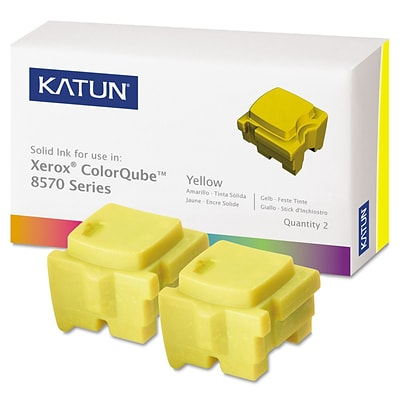 Katun Compatible Solid Ink, Xerox ColorQube 8570 (108R00928), Yellow, 2/Pk