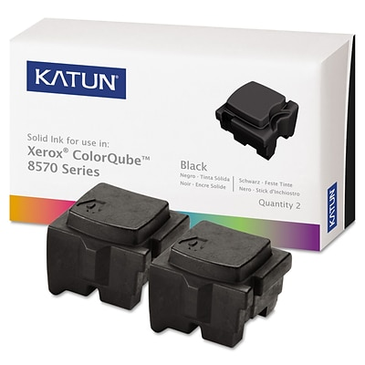 Katun Compatible Solid Ink, Xerox ColorQube 8570 (108R00929), Black, 2/Pk