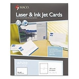 Maco Laser and Ink Jet Post Cards, 2 Up, 6x4, White, 100/Bx