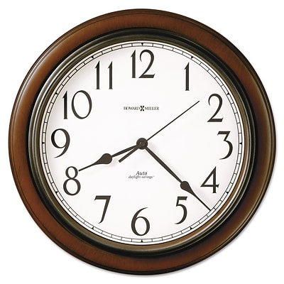 Howard Miller Talon Wall Clock, 15 1/4, Cherry