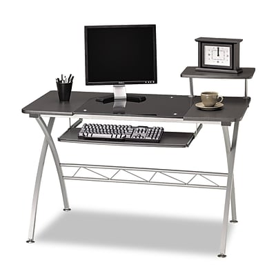 Mayline Eastwinds Vision Computer Desk, 34H x47-1/4W x 26D, Anthracite