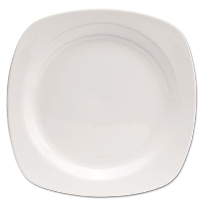 Office Settings Chefs Table Porcelain Square Dinnerware Salad Plate; White; 8/Box