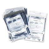 PM Company Disposable Dual Deposit Bag, Plastic, Clear, 11 x 15, 100/Pk