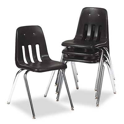 Virco® 9000 Series Classroom Stack Chair; Black/Chrome
