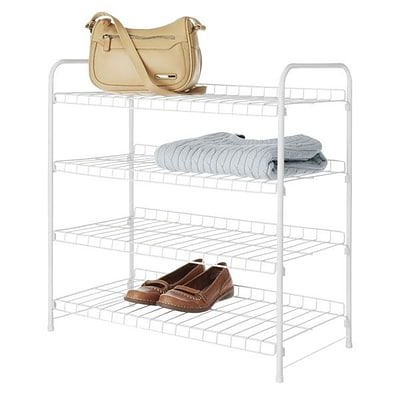 Whitmor 4-Tier Closet Shelves, White