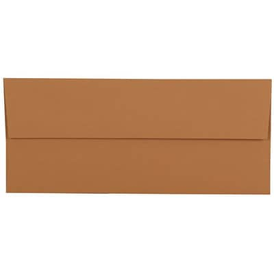 JAM Paper® #10 Business Envelopes, 4 1/8 x 9 1/2, Tan Brown, 500/box (125424027)