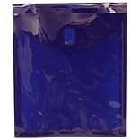 JAM Paper® Plastic Envelopes with Hook & Loop Closure, 1 Exp, Letter Open End, 9.75 x 11.5, Dark